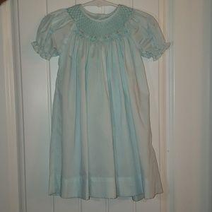 Light blue bishop dress